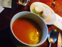 Bonnington Cafe carrot, parsnip and orange soup