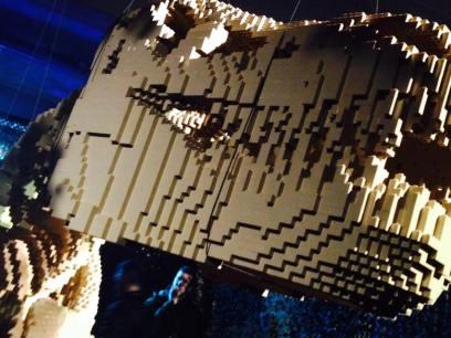 art of brick dinosaur head