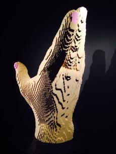 art of the brick hand